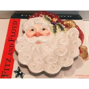 FITZ And FLOYD NEW IN BOX XMAS SANTA CANAPÉ PLATE